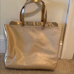 Jessica Simpson gold glitter bag